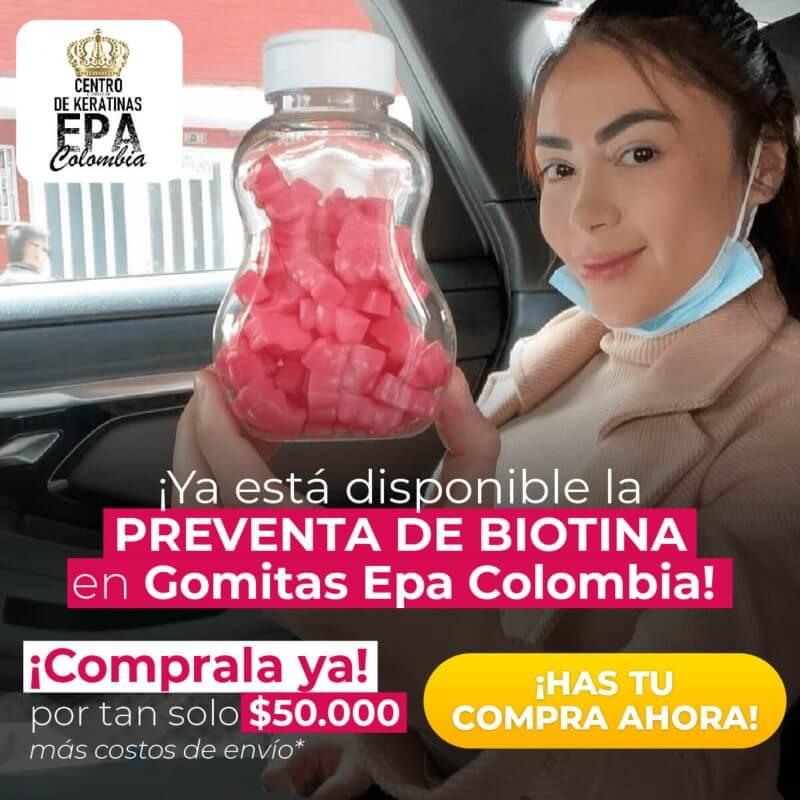 Biotina de gomitas Epa Colombia